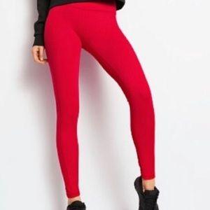 Victoria Secret Ribbed Red Tight Stretch Leggings
